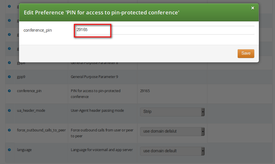 Setting Conference PIN 5 Features