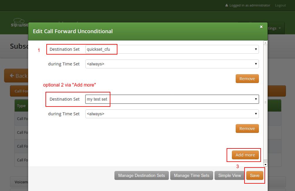 Assign CF Destination Sets 6 Features