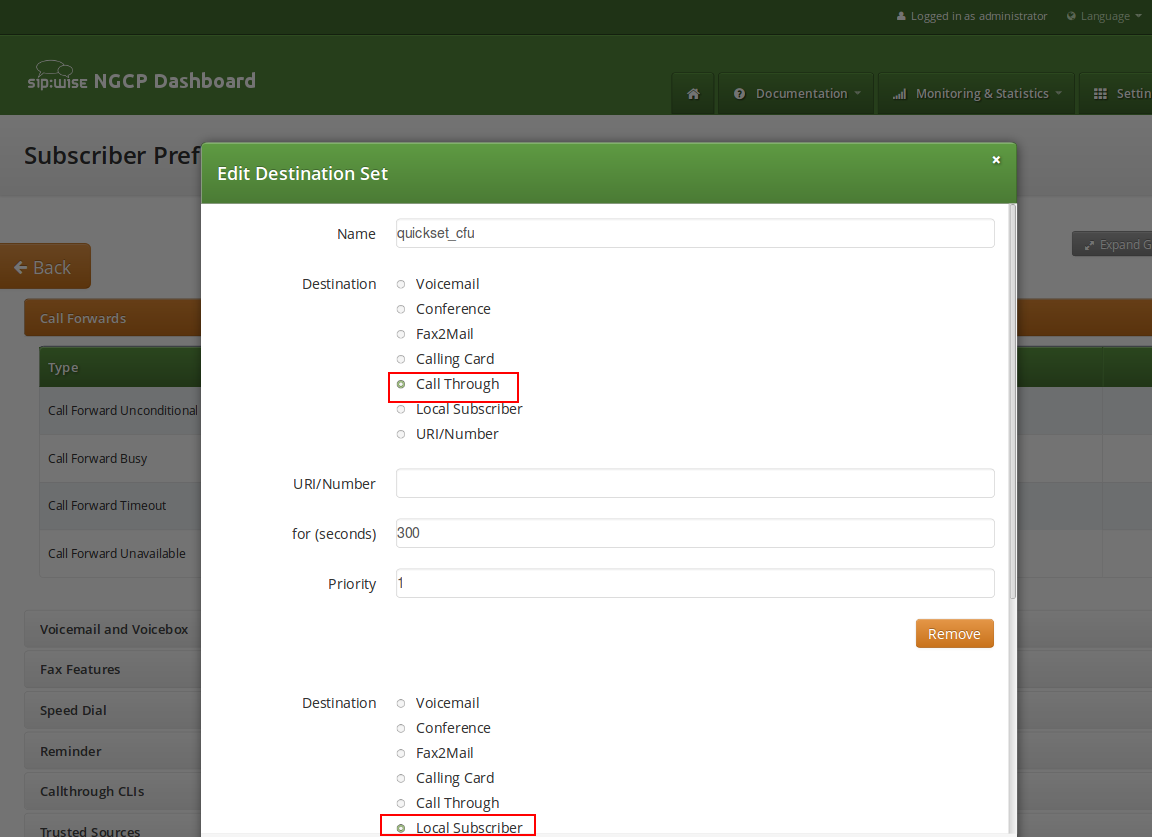 Forward to Callthrough application 6 Features